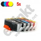 PGI-550/CLI-551 Set (5 stuks) - met chip